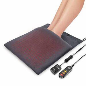 Comfier Chauffe-pieds et coussin chauffant 2 en 1, 12 V, tension de sécurité, lavable, grande taille, arrêt automatique de 60 minutes, idee cadeau pour les parents