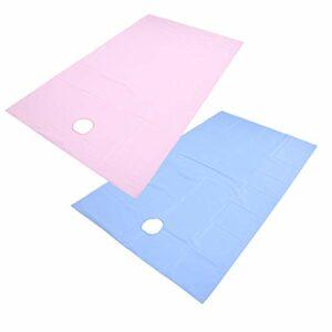Conception de tissu suspendu d'absorption d'humidité Film inférieur épaissi drap de lit de Massage drap de lit de Salon de beauté pour l'hôpital pour salons de(Pink+blue)