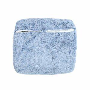 Coussin chauffant, chauffe-pieds, doux détachable confortable pour un usage domestique femme homme utilisation en dortoir garder au chaud en hiver(blue)