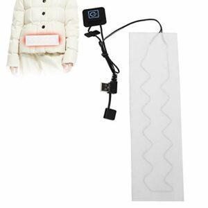 Coussin chauffant électrique, ceinture chauffante électrique, tissu chauffant USB menstruel imperméable pour vêtements de tapis pour animaux de compagnie, soulagement de la douleur au dos