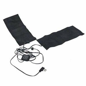 Coussin de Gilet électrique 2 en 1 5V 2A USB Veste chauffante Coussin Chauffant avec 3 Vitesses température réglable pour l'hiver Froid à l'extérieur