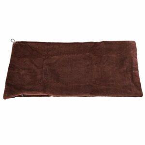 Couverture d'enveloppe de poncho électrique, coussin de châle chauffant, velours pour garder l'hiver au chaud(Brown)