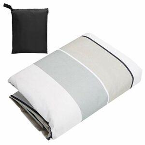 DAUERHAFT Protection Solaire Anti-Pluie et Anti-poussière 600D Tissu Oxford Protecteur de Table Housse de Table de ping-Pong, pour l'extérieur