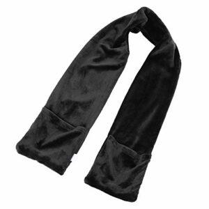 Demeras Écharpe chauffante avec câble USB Hiver électrique écharpe électrique chauffée Chaude écharpe col châle épaule pour l'hiver(Noir)