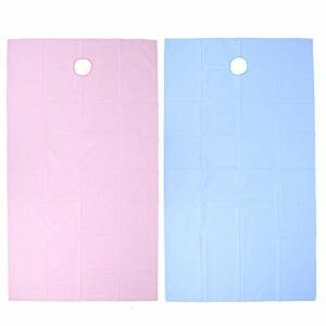 Drap de lit de massage drap de lit de salon de beauté résistant à l'huile de conception de tissu suspendu imperméable pour les salons de beauté(Pink+blue)