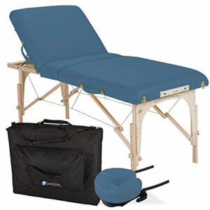 EARTHLITE Avalon TILT Table de massage portable – Incl. étui de rangement, têtière souple et autoajustable et coussin à mémoire de forme (75cm x 182,5cm)