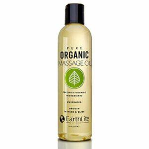 EARTHLITE organique pure huile de massage – NOUVEAUTE 2019 – sans produit chimique, certifiée 100 % organique, très grande qualité pour les thérapeutes & les clients, sans parfum