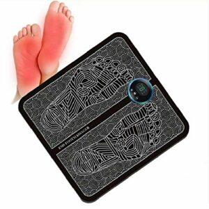 EMS Foot Massager électrique, Masseur de pied d'impulsion électronique, 6 modes, 9 fréquences réglables, impulsions de fréquence basse fréquence (EPS/EMS) favorisent la circulation sanguine