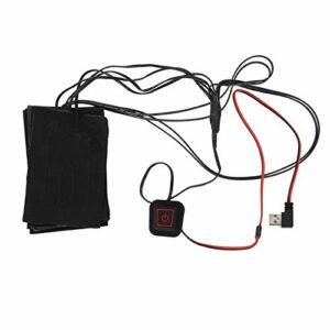FOLOSAFENAR Mini Port USB Noir 4.7X3.1In (chacun) Tissu Chauffant USB en Polyester + Fibre métallique Lavable, pour l'hiver Froid