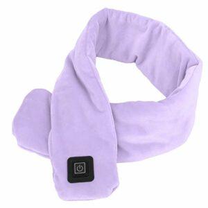Fybida Écharpe Chaude et Respirante à température réglable Écharpe chauffante Intelligente d'hiver Douce pour la Peau(Lavender)