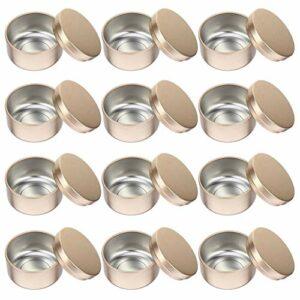 HEALLILY 12 PIÈCES Boîtes Rondes En Métal En Aluminium Boîtes de Conserve Vide Bougie Boîtes Boîtes À Épices avec Couvercles pour Le BRICOLAGE Fabrication De Bougies Salve Épices