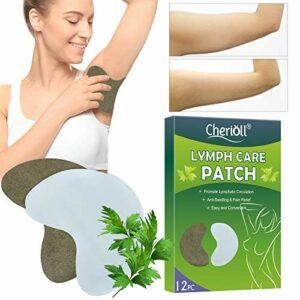 Herbal Lymph Care Patch, Aisselles Lymphatique Detox Patch, Sein Lymphatique Detox Patch, Supprimer sous Les Aisselles Graisse, Favoriser la circulation sanguine,12Pcs