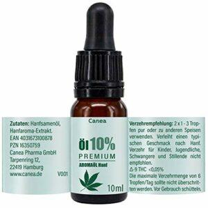 Huile aromatique 10 % de qualité supérieure avec ingrédients naturels, végétalien, fabriqué en Allemagne, 10 ml de gouttes