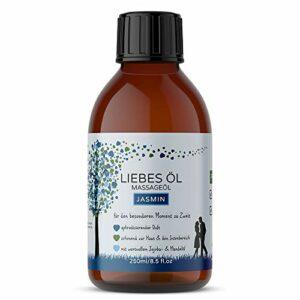 Huile de massage pour massage érotique – Tantra – 250 ml d'huile nourrissante pour les moments spéciaux à deux (Jasmin)