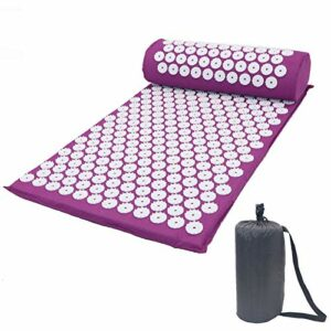 Kit d'acupression, soulage les douleurs dans le dos, le cou et le nerf sciatique, détend les muscles, soulage le stress, détend les muscles, violet