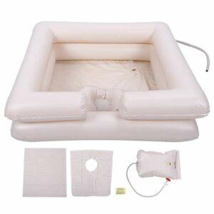 Kit de Bassin de Shampooing Gonflable, Réservoir de Shampooing de Bassin de Shampooing Carré Gonflable Portatif de PVC pour les Femmes Enceintes âgées et Handicapées