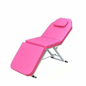 Lit cosmétique portable en 3 parties – Table de massage professionnelle – Pliable – Thérapie – Lit de beauté portable – Salon SPA – PVC