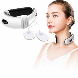 Masseur cervical, Masseur de nuque portable, Masseur multifonctionnel pour le cou, Masseur Cervical Intelligent, Multi-fonction Pulse Vibration Pétrissage Instrument de Physiothérapie
