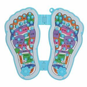 Masseur de pied d'acupression de réflexologie, tapis de Massage de marche de soulagement de la douleur de jambe réflexologie soulager les outils de soins de santé de pied de pierre de marche