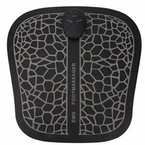 Masseur de Pied EMS Masseur de Pied électrique Masseur de Pied de Circulation avec la Promotion du Soulagement de la Douleur Musculaire de la Circulation Sanguine(Type de batterie)