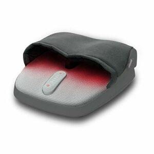Medisana FM 885 Masseur de pieds Shiatsu, électrique, fonction lumière rouge, fonction chauffage, 3 vitesses, massage Shiatsu pour stimuler la circulation et massage de compression