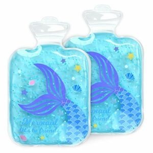 Navaris Poche Gel Chaud Froid Enfant – Pack 2x Sac Compresse Glace Doux Sans BPA – Patch Gel Compresse Chaud Froid Frigo Congélateur Micro-ondes