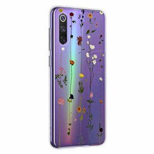 Oihxse Mandala Motif Case Compatible pour Samsung Galaxy S11 Coque Transparente Silicone TPU Souple Protection Etui Ultra Slim Mehndi Floral Datura Dentelle Housse Bumper (A14)