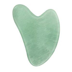 OVERMAL Gua Sha Masseur Tool Natural Rose Quartz Stone Visage Cou Corps Masseur Peau Prendre Soin Du Cou Soulagement De La Douleur (Vert)