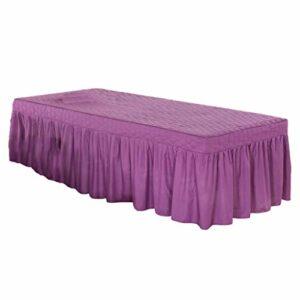 perfk Nouveau Drap de Couverture de Lit de Massage avec Jupe Tombante Jupe de Table de Salon de Beauté 73×28 – Lilas