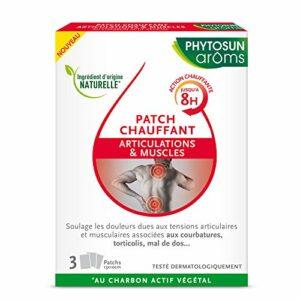 Phytosun Arôms Patch Chauffant Articulations & Muscles – Au Charbon Actif Végétal – Boîte de 3 Patchs