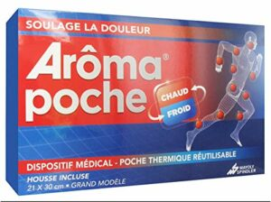 Poche Thermique réutilisable Chaud/Froid Thermothérapie ou Cryothérapie Aroma (soulage les douleurs musculaires, maux de dos et de tête, torticolis, entorses, hematomes, …) 21×30 cm