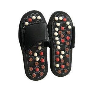 Qiwenr Masseur de Pieds Pantoufles,EU 42-43 Healthty Pantoufles de Massage Acupression Massage Masseur de Pieds,pour Massage des Pieds Chaussons Thérapie Acupuncture Soins de Santé