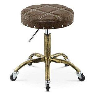 QLIGAH Chaise pivotante Tabouret Beauté Salon Tabouret médical Tabouret réglable Tabouret réglable Hauteur réglable, Roue, Rotation à 360 degrés