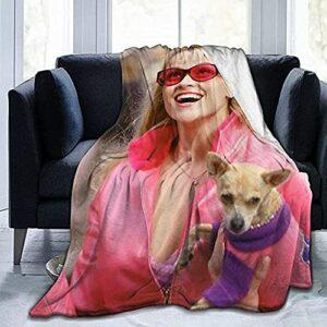 Reese Witherspoon Flannel Thread Couverture Tissus De Qualité Élégants Toutes La Saison Chaude Qualité Ultra-Doux Couvertures en Peluche Légère pour Hommes Femmes
