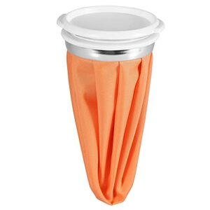 Sac de glace réutilisable 3 tailles pour soulager la douleur, le bain et le corps, pour soulager les douleurs musculaires, sac de glace froid pour blessures sportives [15,2 cm – Orange]