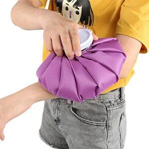 Sac de glace réutilisable 3 tailles pour soulager la douleur, le bain et le corps, pour soulager les douleurs musculaires, sac de glace froid pour blessures sportives [22,9 cm – Violet]