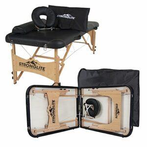 STRONGLITE Kit Table de Massage Olympia – Table de soin tout-en-un avec repose-tête, Coussin, Traversin et Sac de Transport