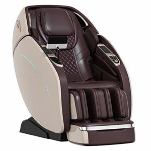 SUFUL M8 Massage Chair, Full Body Zero Gravity Massage Chair, Heating, Super Long SL Track, Air Massage System, Bluetooth 3D Surround Sound Music-the Latest Hot Style (Gold)