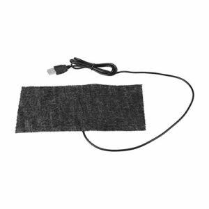 Teror Coussin Chauffant en Fibre de Carbone, 1 PCS Noir 5V USB Tapis Chauffant en Fibre de Carbone 20 * 10cm Tapis de Souris Couverture Chaude