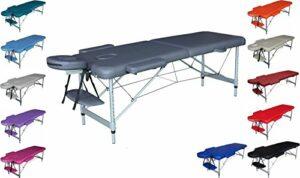 TITANO table en aluminium lit de massage pour tattoo esthétique SANS DOSSIER