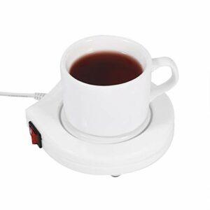 Tomanbery Coussin Chauffant à café Portable Blanc Chauffe-Tasse 110V électrique pour Le Bureau pour Le thé