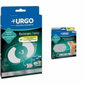 Urgo – Offre duo – Patch d'électrothérapie rechargeable & Recharges gel adhésif – Action anti-douleur immédiate – Pack complet