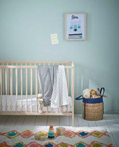 Vertbaudet Couverture bébé bi-Face Minky/Molleton Stella Gris 75X100