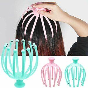 xingguang 1 masseur de tête pour massage de la tête, du cou, du cuir chevelu pieuvre, du stress, du spa, de la guérison, de la santé, outil de massage de la tête (couleur : aléatoire)