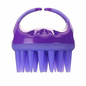 xingguang Brosse de massage pour la tête – Peigne de bain – Brosse de douche – Brosse de massage pour cuir chevelu – En silicone doux – Massage pour le corps – Violet