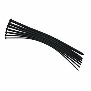 Yanni – Lot de 7 sons en silicone – Tête de champignon – 35 cm – Super long – Étirement de différentes tailles – En silicone – Noir