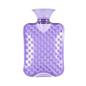 Accueil Portable Handwarmer Massage Thermique Réchauffement Hiver Safe Effectif Proof Safe Eau Bouteille Chauffage Chauffage Eau Rempli d'eau Relaxante (Color : Purple 2000ml)