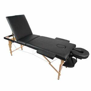 AYNEFY Table de massage pliable et portable – Hauteur réglable – Pour salon ou maison