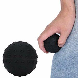 Balle de Massage de Fascia, boule d'entraînement de poignet de boule de poignée boule de Massage de Yoga, pour le pianiste de bodybuilders de grimpeurs d'épaule de corps(black)