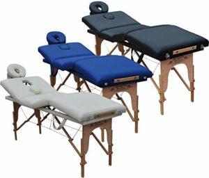Beltom Table de Massage 4 Zones Portables Cosmetique lit esthetique Pliante Reiki + Sac – Crème